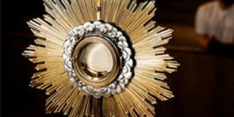 """June 5th to June 7th (for the Feast of Corpus Christi) Closing with Procession and Benediction. Please spend an hour with Our Lord. Sign up today in the Foyer. """"Come before Jesus, Seek Him, Adore Him, Listen to Him."""" Commit to a holy hour of prayer before Him."""